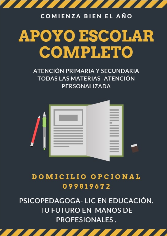 Clases particulares - apoyo escolar- psicopedagogía