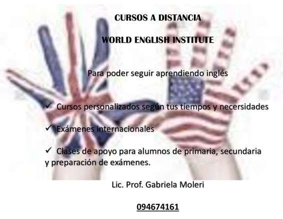 Clases de inglés a distancia