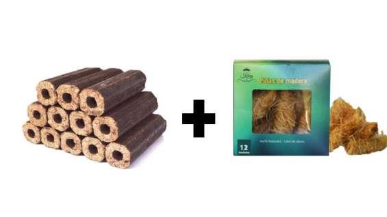 Pack de briquetas más piña ecológica para un encendido al instante