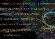 MATEMÁTICA - FÍSICA - QUÍMICA - SECUNDARIA - CIUDAD VIEJA