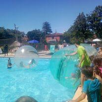 Cilindros y burbujas en la piscina!!
