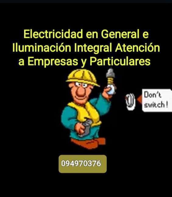 Electridad en general/instalaciones/ refacciones iluminacion led/ domótica